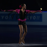 TOKYO - MARCH 25: Mao Asada of Japan performs in an exhibition program during at the World Figure Skating Championships at the Tokyo Gymnasium on March 25, 2007 in Tokyo, Japan. (Photo by Andrew T. Malana)..