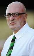 Yeovil - Tuesday, August 11th, 2009: Bryan Gunn, manager of Norwich City, looks on before the Carling Cup 1st Round match at Yeovil. (Pic by Alex Broadway/Focus Images)