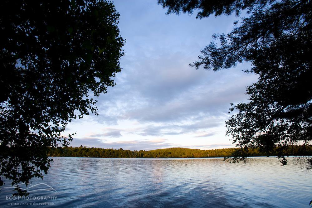The Androscoggin River in Turner, Maine.  Summer.