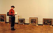 n/z.: Wystawa monograficzna Jozefa Pankiewicza w Muzeum Narodowym w Warszawie z okazji 140. rocznicy urodzin artysty . Polska , Warszawa , 06-01-2006 , fot.: Adam Nurkiewicz / mediasport..Exhibion of Jozef Pankiewicz at National Museum in Warsaw. Pankiewicz was painter and graphic artist - one of the first Impressionists and Symbolists in Polish art at the turn of the 19th and 20th centuries. January 06, 2005 , Poland , Warsaw ( Photo by Adam Nurkiewicz / mediasport )