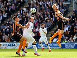 Hull City's Paul McShane clears the ball - Photo mandatory by-line: Matt McNulty/JMP - Mobile: 07966 386802 - 24/05/2015 - SPORT - Football - Hull - KC Stadium - Hull City v Manchester United - Barclays Premier League
