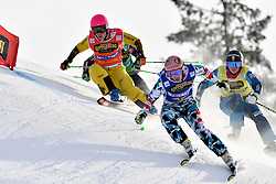 12.02.2017, Idre Fjäll, SWE, FIS Weltcup Ski Cross, Idre Fjäll, im Bild Alexandra Edebo bekam harten Widerstand von Heidi Zacher und Katrin Ofner of austria // during the FIS Ski Cross World Cup in Idre Fjäll, Sweden on 2017/02/12. EXPA Pictures © 2017, PhotoCredit: EXPA/ Nisse Schmidt<br /> <br /> *****ATTENTION - OUT of SWE*****