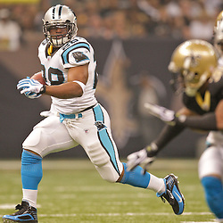 Nov 08, 2009; New Orleans, LA, USA; Carolina Panthers running back Jonathan Stewart (28) runs during the first half against the New Orleans Saints at the Louisiana Superdome. Mandatory Credit: Derick E. Hingle