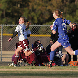 2 December 2008:St. Thomas Aquinas  Jenna Fugarino (#15) during the St. Thomas Lady Falcons 5-2 loss to Country Day in a non-district soccer match at Falcons Soccer Field in Hammond, LA.
