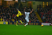 Early chance for Lloyd Dyer during the Sky Bet Championship match between Watford and Derby County at Vicarage Road, Watford, England on 22 November 2014.