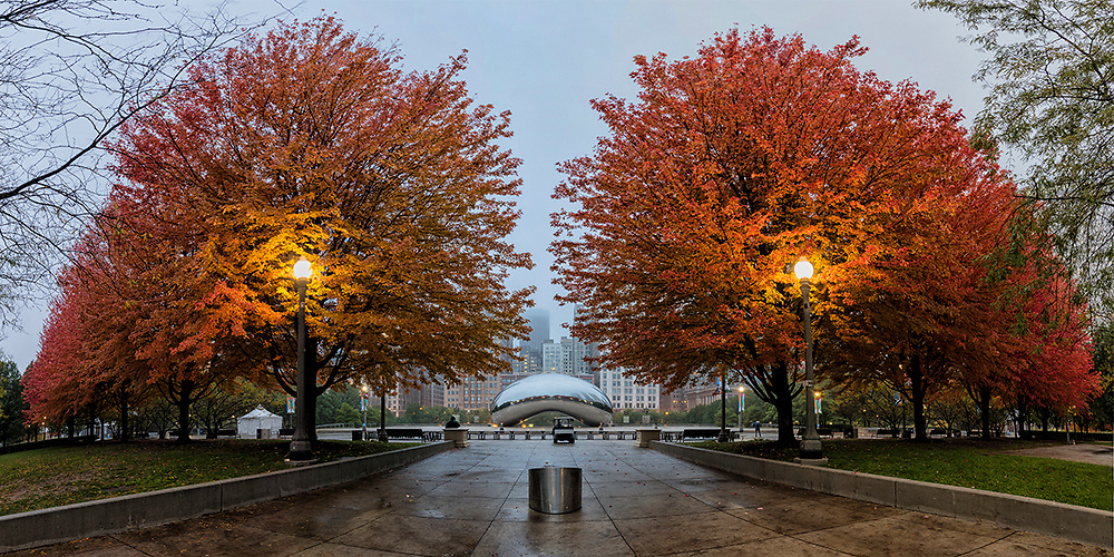 Taken at Millennium Park (Chicago) on November 5, 2017, at 6:40 AM. 12 minutes after sunrise. Temp: 53°.