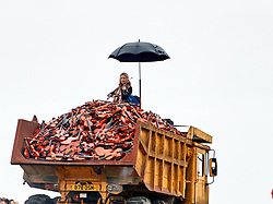 October 5, 2018 - Liverpool Giants show at  Fort Perch Rock , New Brighton, Wirral, Merseyside- The final Giant Spectacular By Royal de Luxe, one of world's leading street theatre companies returns to Merseyside UK (Credit Image: © Andy Von Pip/ZUMA Wire)
