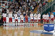 DESCRIZIONE : Avellino Lega A 2014-15 Sidigas Avellino Umana Venezia<br /> GIOCATORE : Team Umana Venezia<br /> CATEGORIA : inno nazionale mano sul cuore<br /> SQUADRA : Umana Venezia<br /> EVENTO : Campionato Lega A 2014-2015<br /> GARA : Sidigas Avellino Umana Venezia<br /> DATA : 12/10/2014<br /> SPORT : Pallacanestro <br /> AUTORE : Agenzia Ciamillo-Castoria/A. De Lise<br /> Galleria : Lega Basket A 2014-2015 <br /> Fotonotizia : Avellino Lega A 2014-15 Sidigas Avellino Umana Venezia