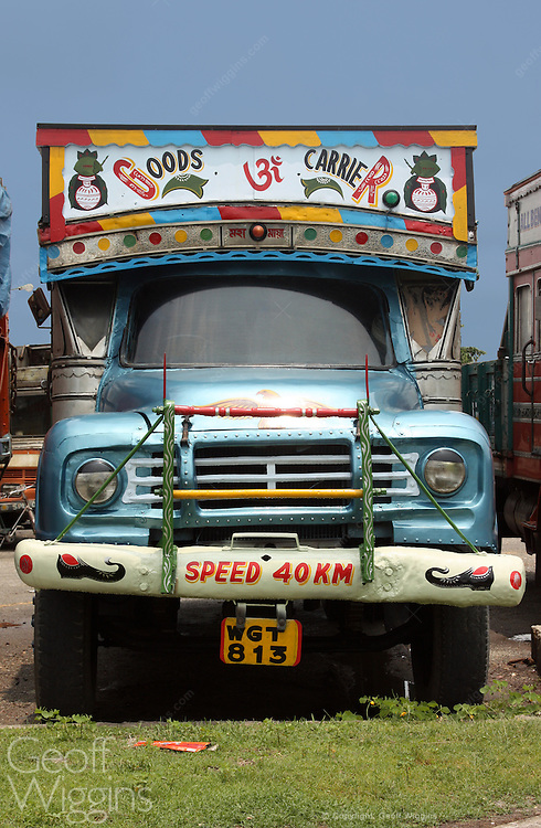 1960s vintage Indian Bedford Hindustan truck. Cooch Behar, West Bengal, India