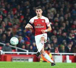 October 31, 2018 - London, England, United Kingdom - London, UK, 31 October, 2018.Julio Pleguezuelo of Arsenal.During Carabao Cup fourth Round between Arsenal and Blackpool at Emirates stadium , London, England on 31 Oct 2018. (Credit Image: © Action Foto Sport/NurPhoto via ZUMA Press)