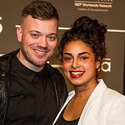 NLD/Amsterdam/20150202 - Edison Awards 2015, Gers Pardoel en partner Selina van Gool