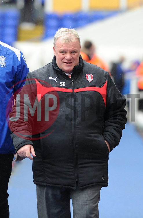Rotherham United manager, Steve Evans - Photo mandatory by-line: Paul Knight/JMP - Mobile: 07966 386802 - 03/04/2015 - SPORT - Football - Birmingham - St Andrew's Stadium - Birmingham City v Rotherham United - Sky Bet Championship