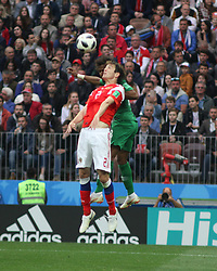 June 14, 2018 - Moscow, Russia - Russian Federation. Moscow. The Luzhniki Stadium. Match Opening of the World Cup 2018. Russia - Saudi Arabia. Solemn opening ceremony of the FIFA World Cup 2018. FIFA World Cup 2018. Player of the Russian national football team  (Credit Image: © Russian Look via ZUMA Wire)