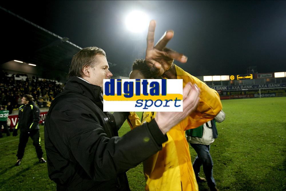 Fotball<br /> Belgia<br /> Foto: PhotoNews/Digitalsport<br /> NORWAY ONLY<br /> <br /> LIER  16/12/2006<br /> KSK LIERSE - SPORTIG LOKEREN OOST-VLAANDEREN <br /> <br /> KJETIL REKDAL - MUSTAPHA JARJU