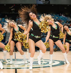 March 20, 2017 - Reno, Nevada, U.S - The Lady Bighorn Dancers perform during the NBA D-League Basketball game between the Reno Bighorns and the Texas Legends at the Reno Events Center in Reno, Nevada. (Credit Image: © Jeff Mulvihill via ZUMA Wire)