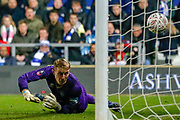 GOAL Queens Park Rangers goalkeeper Joe Lumley (1) is beaten by Sheffield Wednesday defender Morgan Fox (3) (not in picture during The FA Cup match between Queens Park Rangers and Sheffield Wednesday at the Kiyan Prince Foundation Stadium, London, England on 24 January 2020.