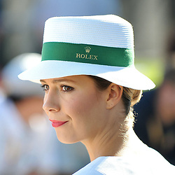 One of the Rolex girls.<br /> <br /> Round 1 - 1st day of the 2017 Formula 1 Rolex Australian Grand Prix at The circuit of Albert Park, Melbourne, Victoria on the 23rd March 2017.<br /> Wayne Neal | SportPix.org.uk