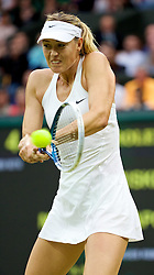 28.06.2014, All England Lawn Tennis Club, London, ENG, WTA Tour, Wimbledon, im Bild Maria Sharapova (RUS) during her Ladies' Singles 3rd Round victory 6-3, 6-0 on day six // 15065000 during the Wimbledon Championships at the All England Lawn Tennis Club in London, Great Britain on 2014/06/28. EXPA Pictures © 2014, PhotoCredit: EXPA/ Propagandaphoto/ David Rawcliffe<br /> <br /> *****ATTENTION - OUT of ENG, GBR*****