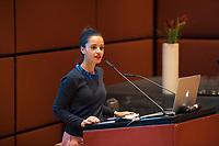 DEU, Deutschland, Germany, Berlin, 04.12.2017: Staatsekretärin Sawsan Chebli (SPD) bei der Willy-Brandt-Preisverleihung der Norwegisch-Deutschen Willy-Brandt-Stiftung.