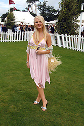 HANNAH SANDLING at the Cartier International polo at Guards Polo Club, Windsor Great Park on 29th July 2007.<br />