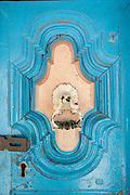 Front door to a home. South India.