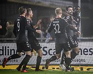 FODBOLD: Jakob Blåbjerg (AaB) jubler med holdkammeraterne efter målet til 0-1 under kampen i ALKA Superligaen mellem FC Helsingør og AaB den 25. november 2017 på Helsingør Stadion. Foto: Claus Birch
