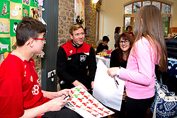 Bristol City Assistant Head Coach Dean Holden chats to children during Bristol City's visit to the Children's Hospice South West at Charlton Farm - Mandatory by-line: Robbie Stephenson/JMP - 21/12/2016 - FOOTBALL - Children's Hospice South West - Bristol , England - Bristol City Children's Hospice Visit
