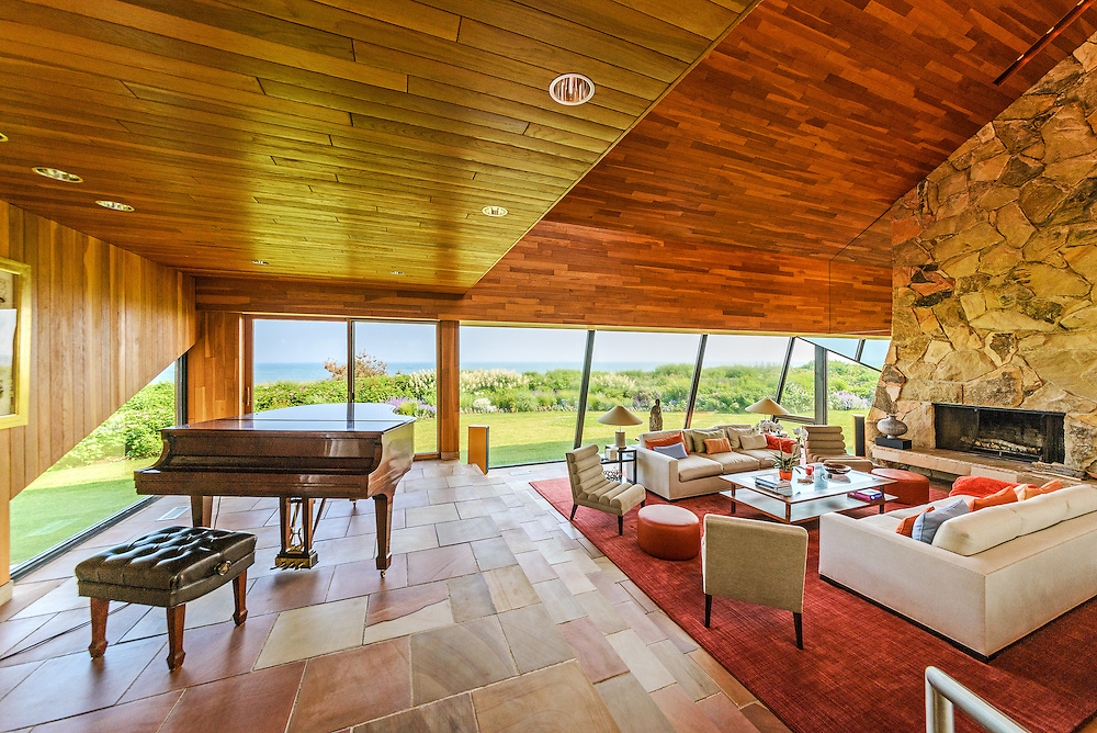 Modern Home Designed by Norman Jaffe, 380 Barons Lane, Southampton, NY, Long Island