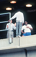 Detroit Chief of Police Isaiah 'Ike' McKinnon and a detective try to talk a suicidal man from the edge of an elevated train platform. The despondent man was threatening to jump but later surrendered to Police.