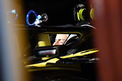 February 21, 2019 - Barcelona, Spain - Australian driver Daniel Ricciardo of French team Renault F1 Team sleep inside his single-seater RS19 during Barcelona winter test in Catalunya Circuit in Montmelo, Spain  (Credit Image: © Andrea Diodato/NurPhoto via ZUMA Press)