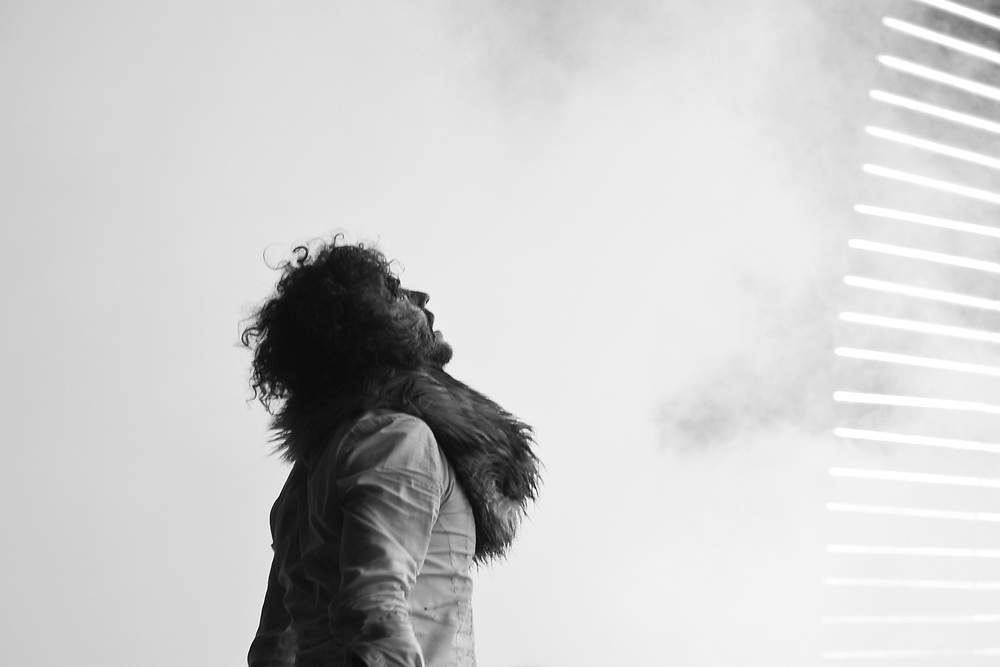 Wayne Coyne of The Flaming Lips, in Santa Barbara.