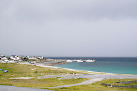 The harbour on Inis Oirr the Aran Islands in Galway Ireland