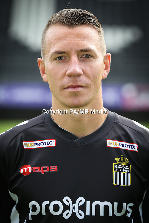 Charleroi's Clement Tainmont pictured during the 2015-2016 season photo shoot of Belgian first league soccer team Sporting de Charleroi, Tuesday 14 July 2015 in Charleroi.