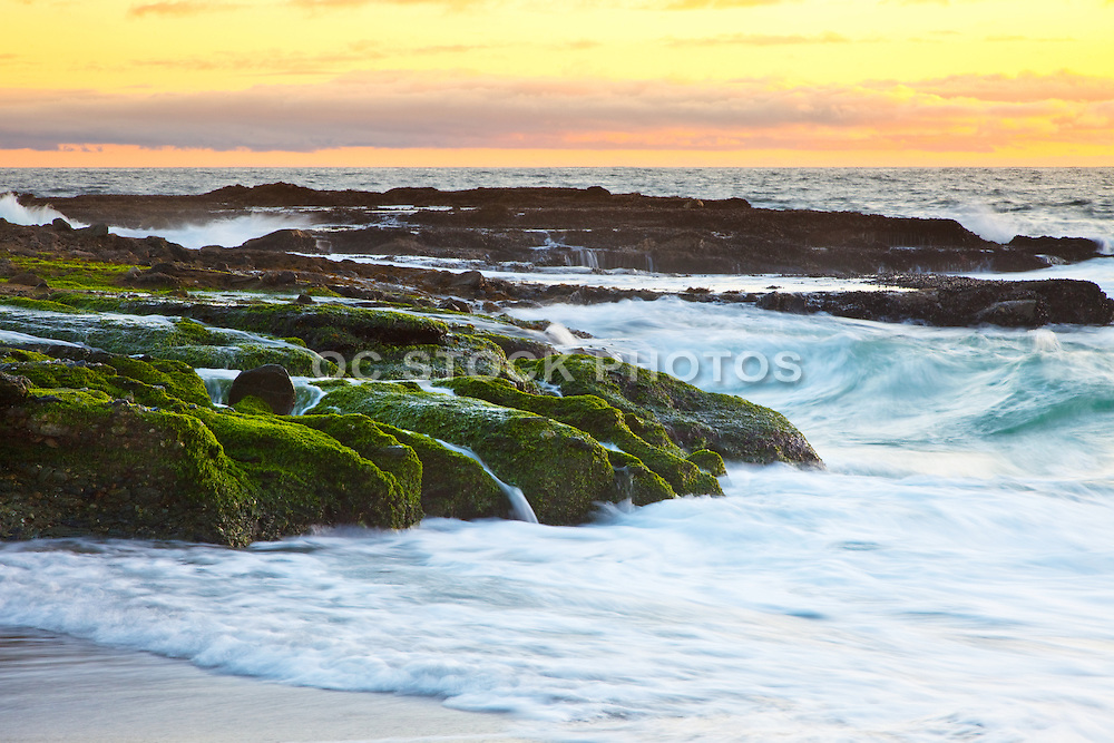 Victoria Beach At Sunset In Laguna Beach California