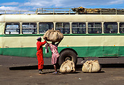 Loading at Bus Station 2, Harare, Zimbabwe, May 1995