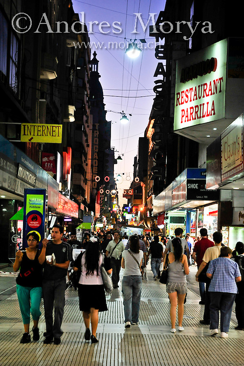 Street scene in Calle Florida , Buenos Aires , Argentina Image by Andres Morya