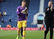 Milton Keynes Dons striker Alex Revell (18) during the Sky Bet Championship match between Preston North End and Milton Keynes Dons at Deepdale, Preston, England on 16 April 2016. Photo by Pete Burns.