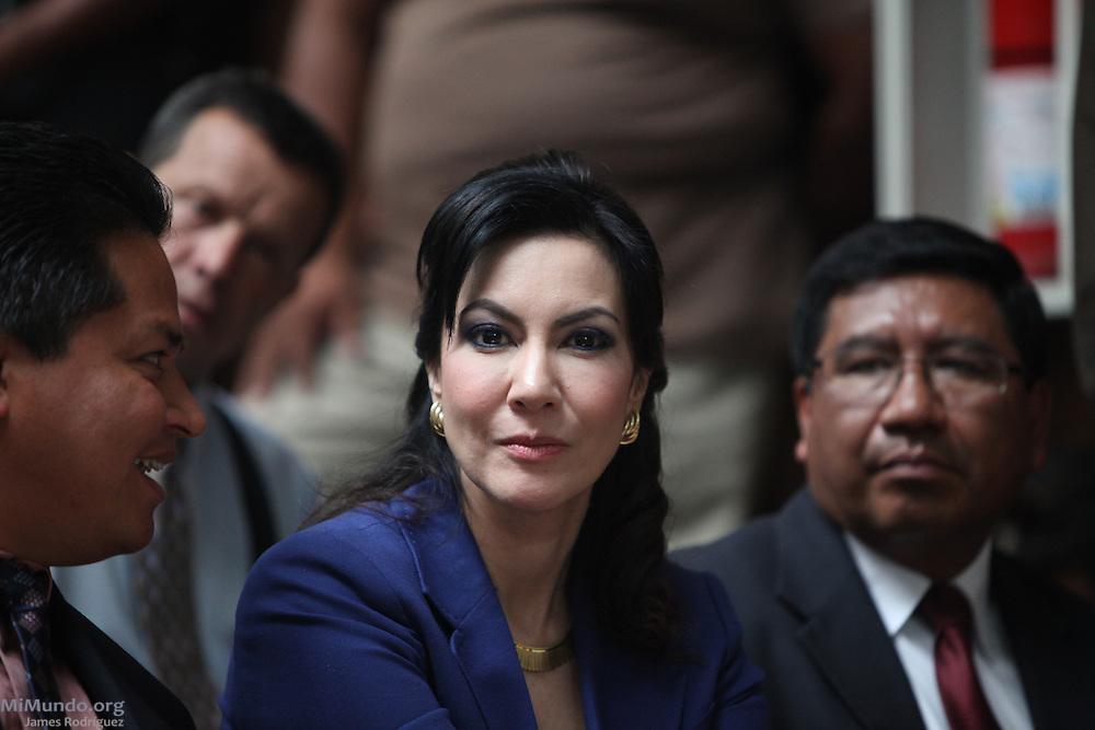 Congresswoman Zury Rios. Rios Montt Genocide Trial Day 26. Guatemala City, Guatemala. May 9, 2013.