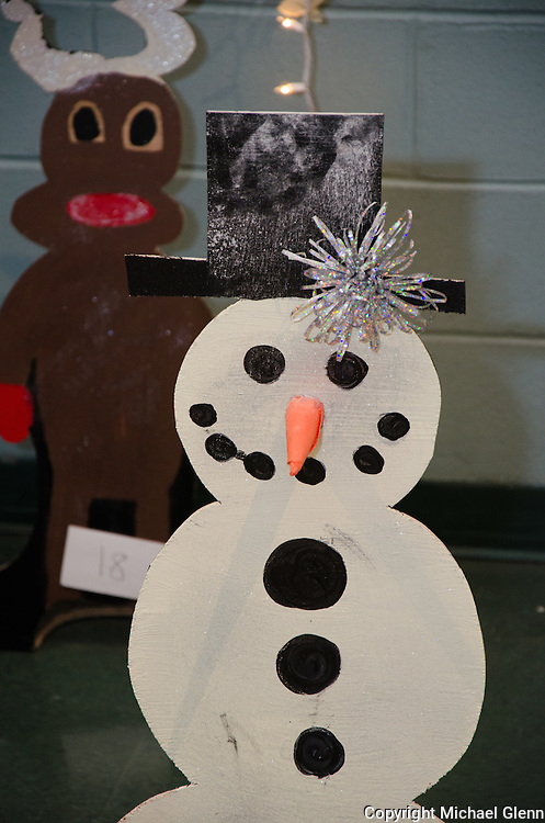 """19 Dec. 2013 Manahawkin USA // 7th and 8th graders created all the decorations for at the annual """"Winter Wonderland"""" Math exhibit"""