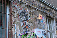 Street art is everywhere in Berlin. Artists use painting, stencilling and posters.