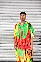 PANAMA, PANAMA - NOVEMBER 03: A congo dancer with his colorful costume. November 03, 2009.  City, Panama. (Photo: Ruben Alfu / Istmophoto)