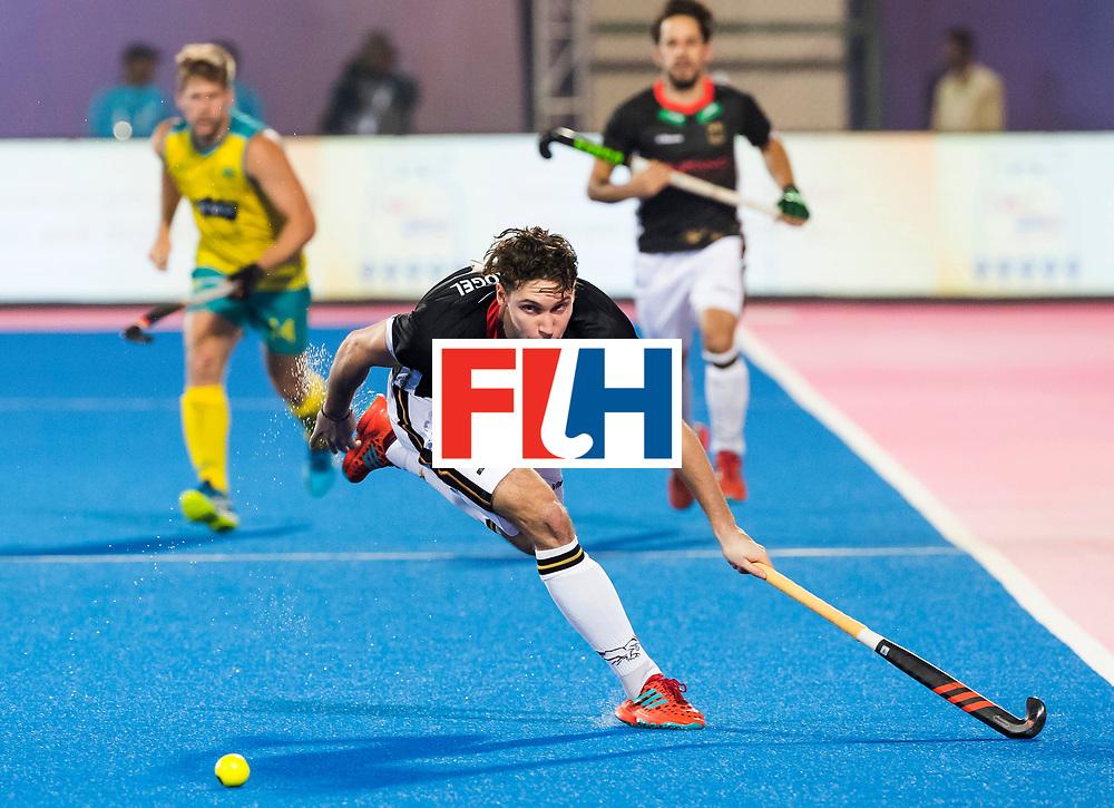 BHUBANESWAR - The Odisha Men's Hockey World League Final . Match ID 05 . Germany  v Australia . Dieter Linnekogel (Ger) WORLDSPORTPICS COPYRIGHT  KOEN SUYK.