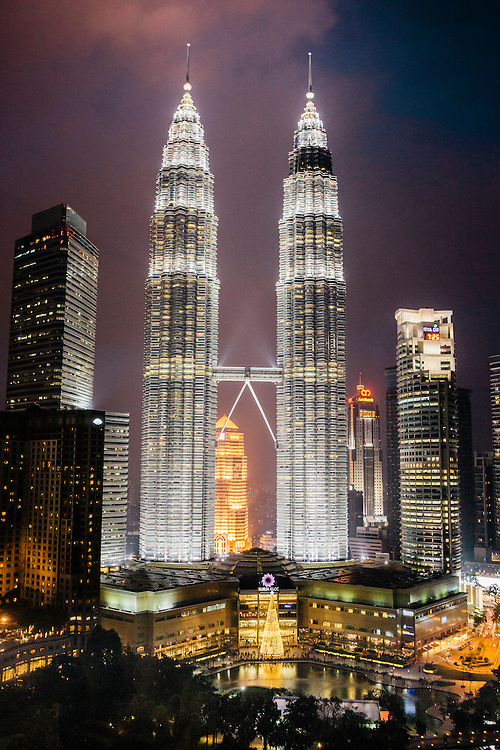 View of Petronas Towers from Traders Hotel, Kuala Lumpur