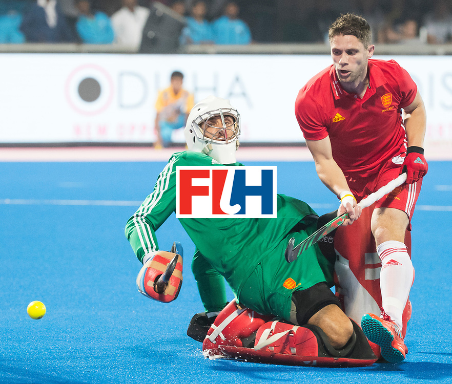 BHUBANESWAR - The Odisha Men's Hockey World League Final . Match ID 06 . India v England. keeper George Pinner (Eng)     WORLDSPORTPICS COPYRIGHT  KOEN SUYK