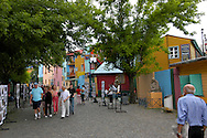 La Boca is one of Buenos Aires' most colorful districts. Italian immigrants were the first settlers of La Boca, and the working class neighborhood was Buenos Aires' first port. Today the buildings in the barrio are painted in bright colors.