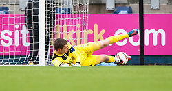Falkirk's keeper Michael McGovern.<br /> Falkirk 1 v 1 Morton, Scottish Championship game today at The Falkirk Stadium.<br /> &copy; Michael Schofield.