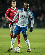 FOOTBALL: Felipe Baloy (Panama) during the friendly match between Denmark and Panama at Brøndby Stadium on March 22, 2018 in Brøndby, Copenhagen, Denmark. Photo by: Claus Birch / ClausBirch.dk.