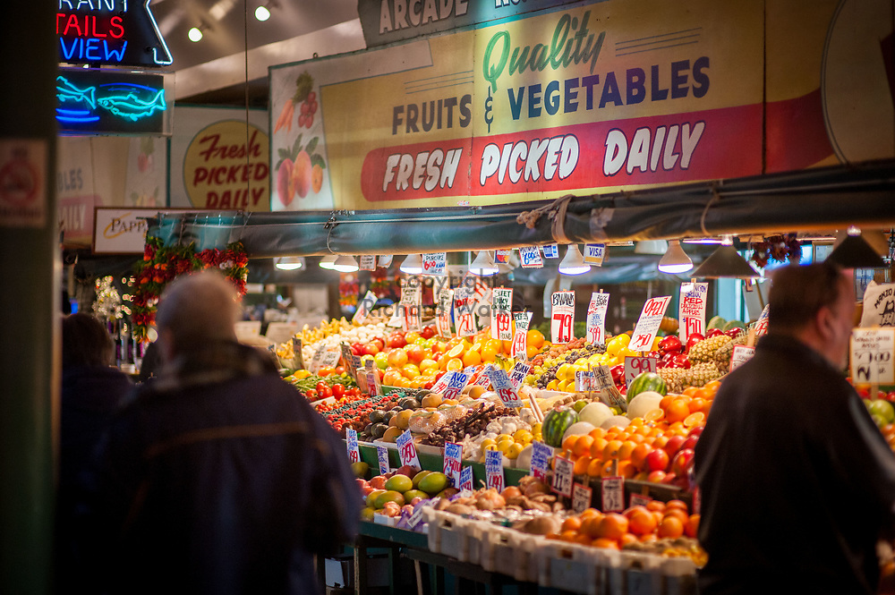2017 DECEMBER 05 - Arcade Market at Pike Place Market, Seattle, WA, USA. By Richard Walker