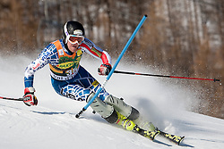 12.12.2010, The Bellevarde race piste, Val D Isere, FRA, FIS World Cup Ski Alpin, Men, Slalom, im Bild BRANDENBURG Will USA  attacks a control gate whilst competing in the FIS alpine skiing world cup slalom race on the Bellevarde race piste Val D'Isere. EXPA Pictures © 2010, PhotoCredit: EXPA/ M. Gunn