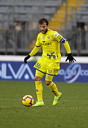 03.02.2019, Stadio Carlo Castellani, Empoli, ITA, Serie A, Empoli FC vs Chievo Verona, 22. Runde, im Bild Perparim Hetemaj in azione // Perparim Hetemaj in action during the Seria A 22th round match between Empoli FC and Chievo Verona at the Stadio Carlo Castellani in Empoli, Italy on 2019/02/03. EXPA Pictures &copy; 2019, PhotoCredit: EXPA/ laPresse/ Marco Bucco<br /> <br /> *****ATTENTION - for AUT, SUI, CRO, SLO only*****